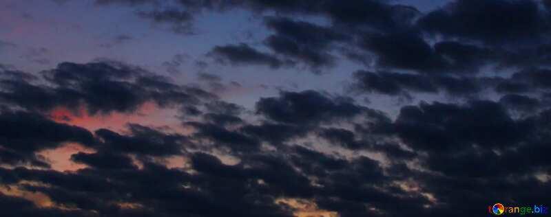 Обложка. Небо после заката солнца. №2397