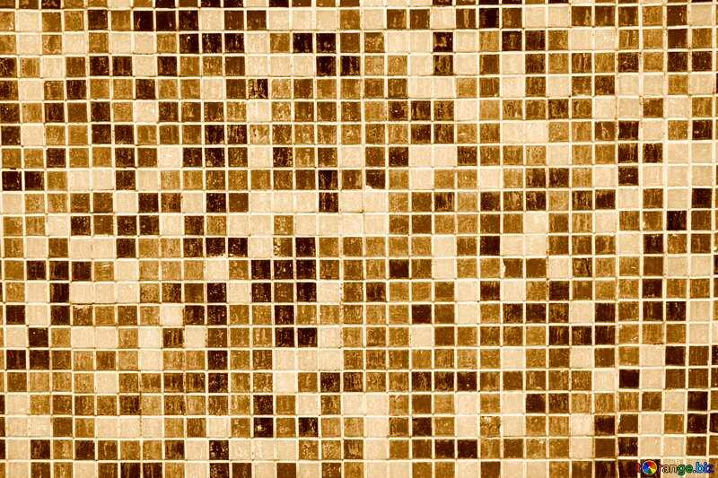 Beige color. Texture.Blue mosaic tiles in the bath.. №12772