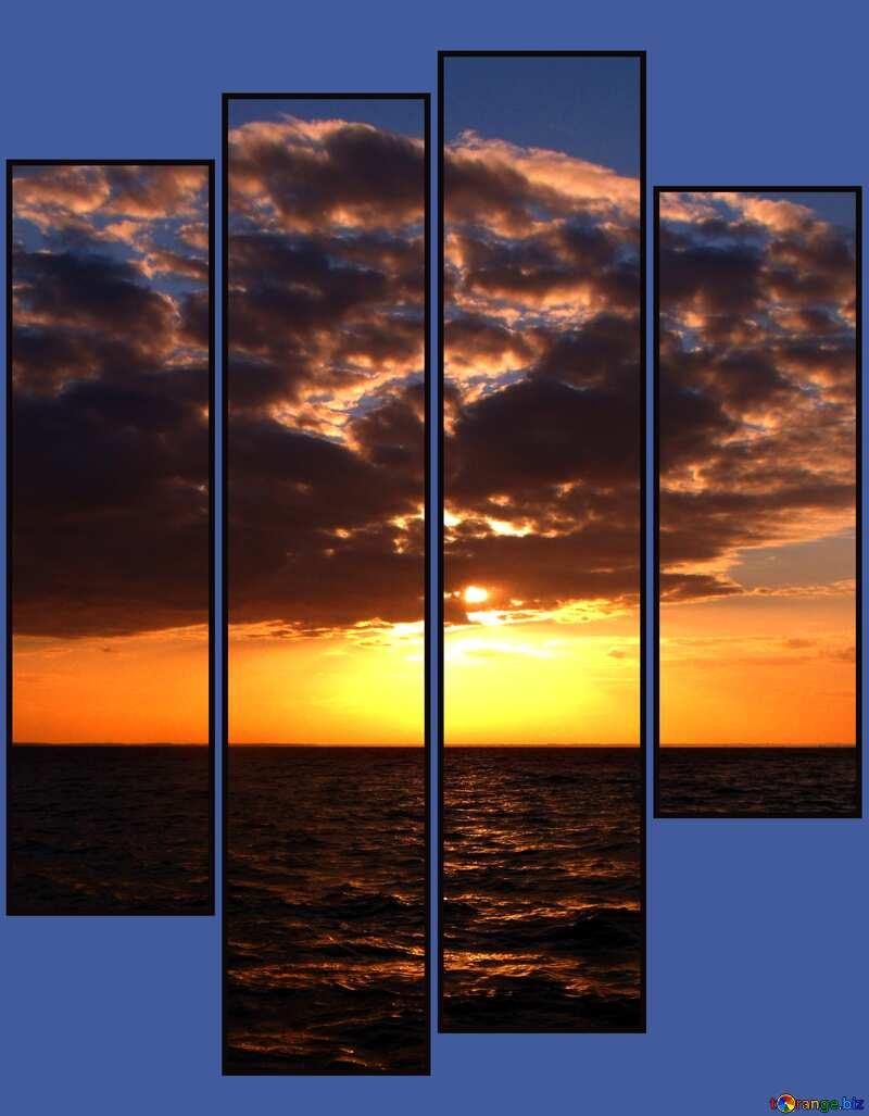 Evening Sea modular picture №11340