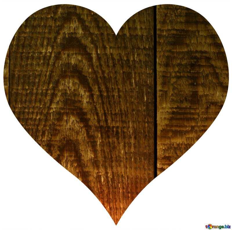 Heart of wooden desk №37891