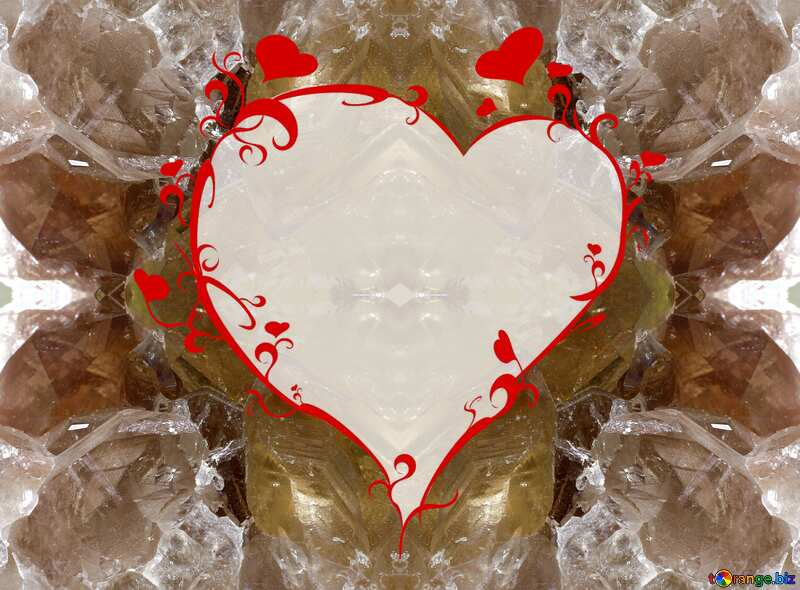 Mineral frame with heart №44674