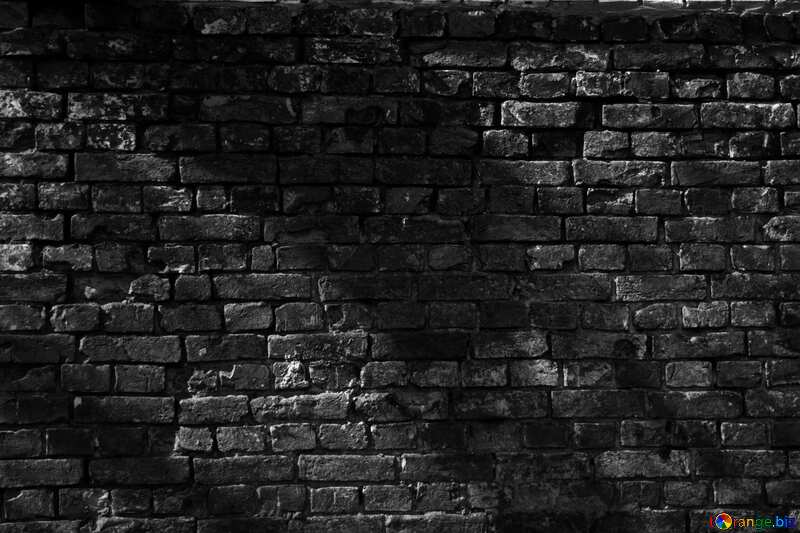 Monochrome. Texture. An old brick wall. №12758