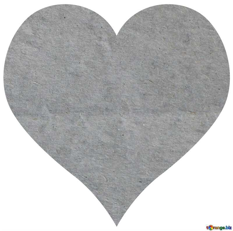 Old grey paper in heart №33534