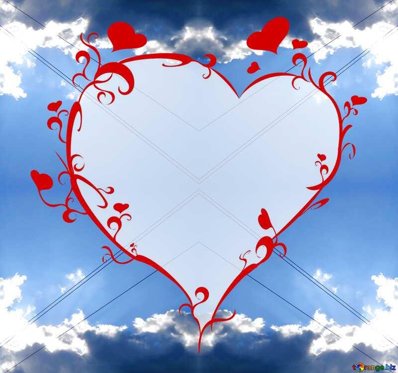 heart sky pattern №27367
