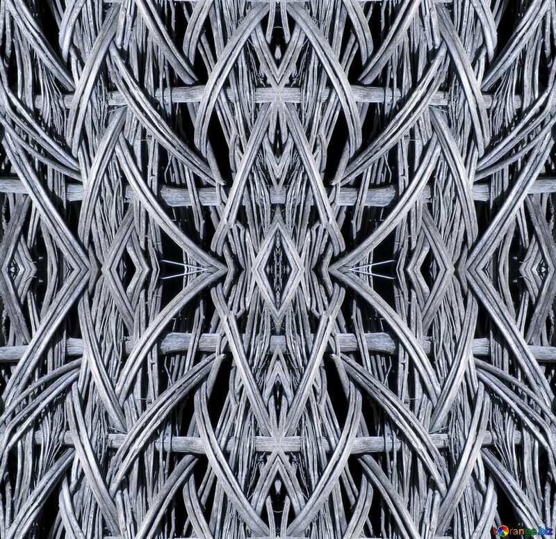 repetitive pattern evoking the fibers of the frame of №28675