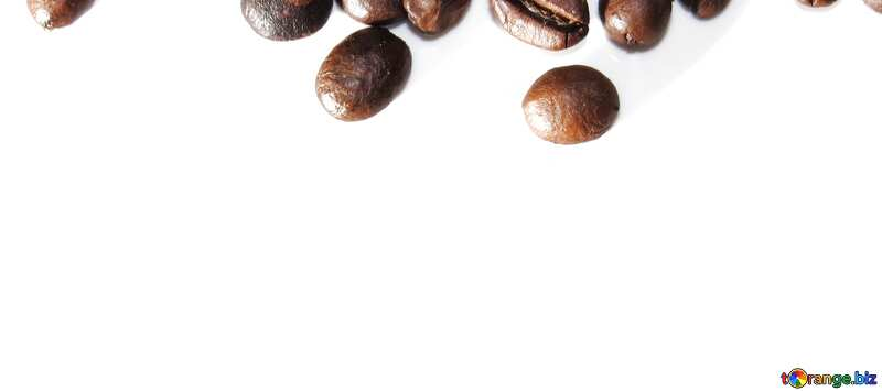 Обложка. Рамка из кофейных зерен на белом фоне. №32291