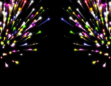 The effect of light. Very Vivid Colours. Fragment. Pattern.