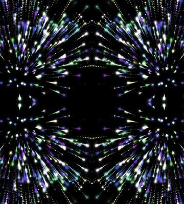 Die Wirkung von blau gefärbt. Bruchstück. Rahmenmusters.