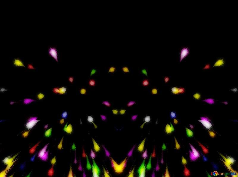 Colorful fireworks dark №40025