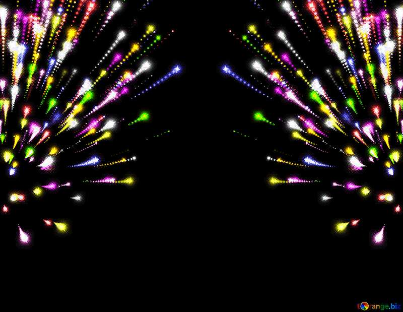 Colorful fireworks pattern №40025