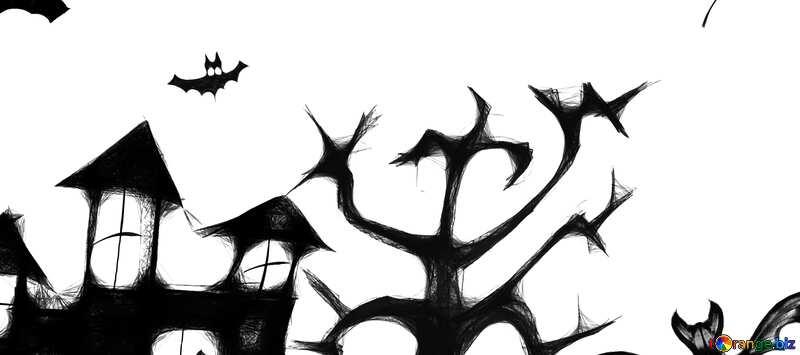 Обложка. Клипарт  хэллоуин. №40498