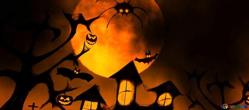 Обложка. Хэллоуин фон на рабочий стол. №40470