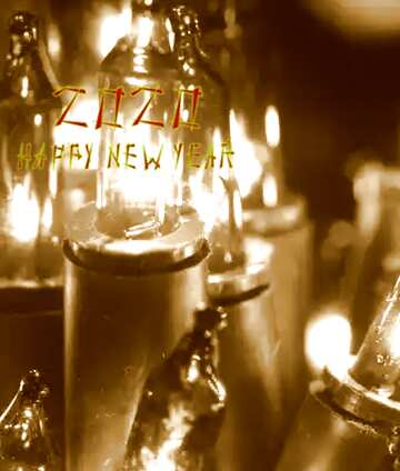 The effect of light. The effect sepia. Fragment. Happy New Year 2020.