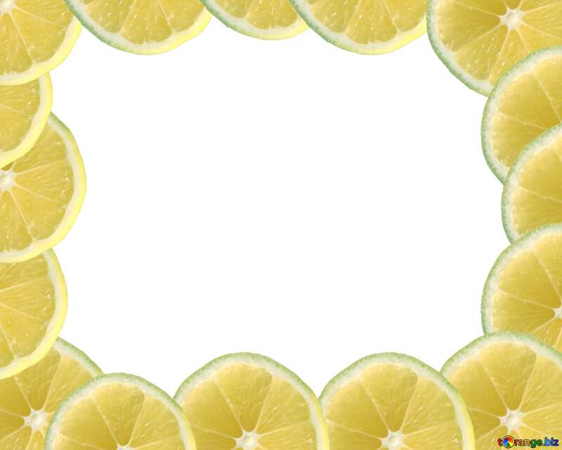 Лимоны по краю рамки №40849