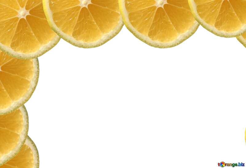 Угол лимонных рамок №40849