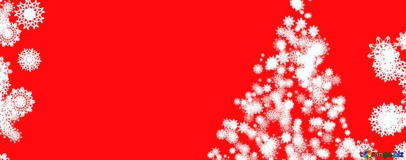 Обложка. Фон клипарт рождественская елка с снежинками. №40696