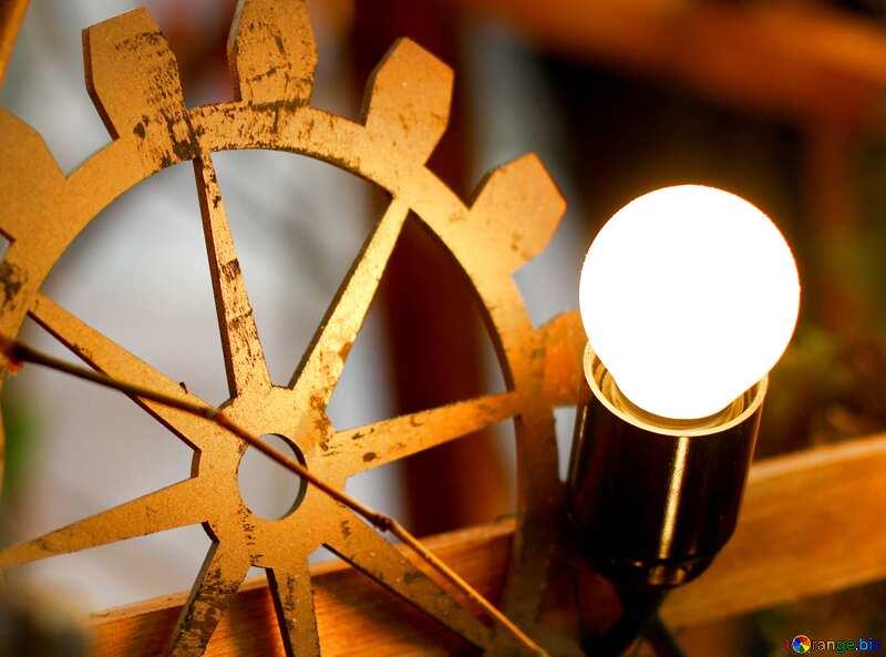 为资料图片 蒸汽朋克风格的装饰旧白炽灯. №46932