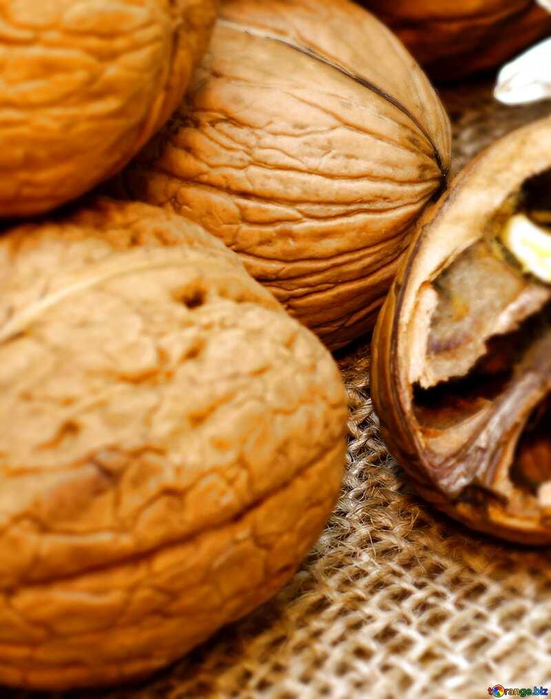 Walnuts blur background №46225