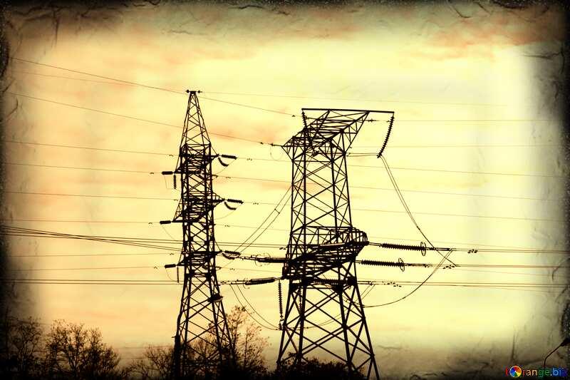 Монохром. Электрические провода . №936