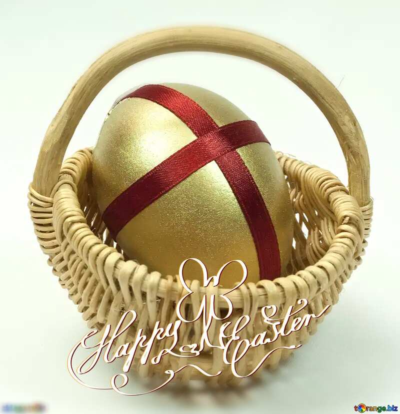 Happy  Easter Egg Gold Gift №8215