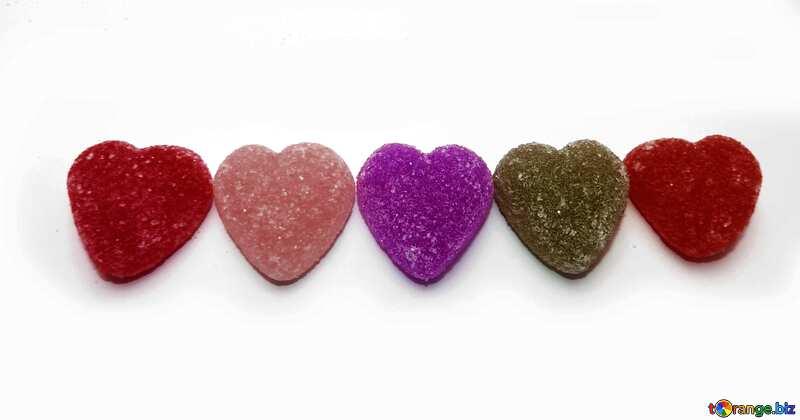 Hearts in multicoloured №18442