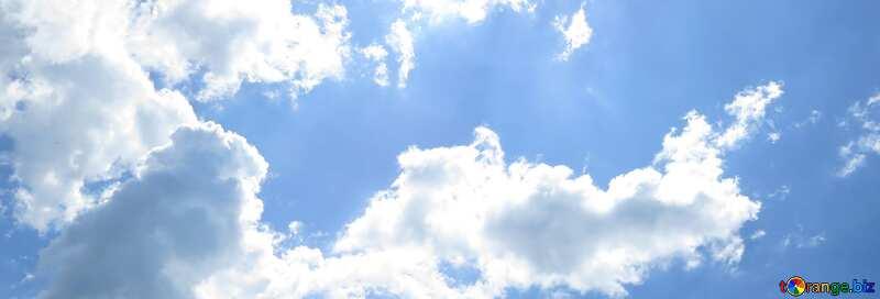 Abdeckung. Sonne und Wolken. №31594