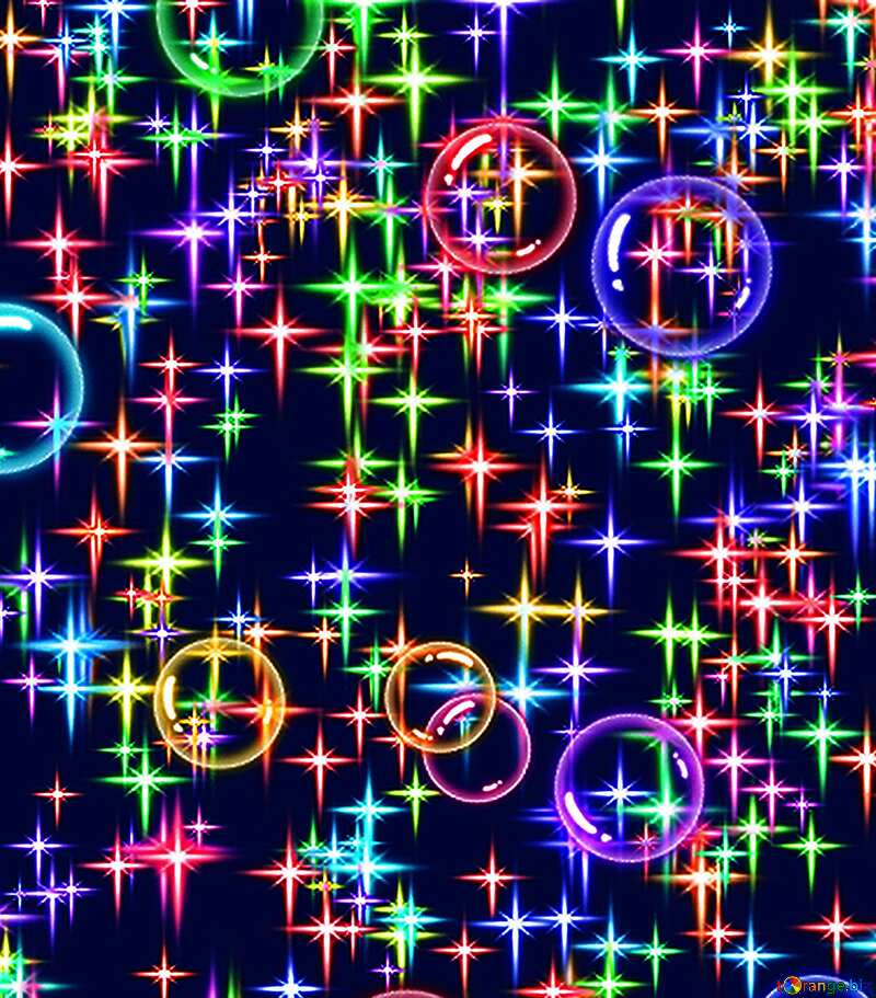 festive colored stars background №39936
