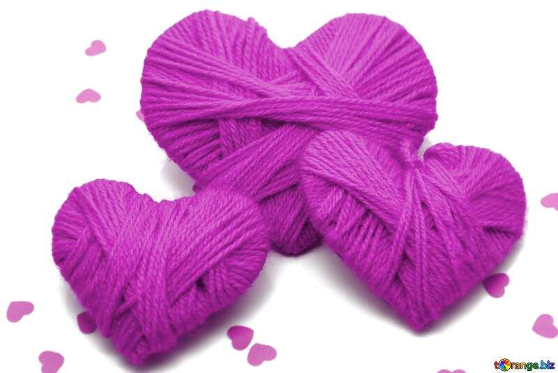 purple hearts red №16406