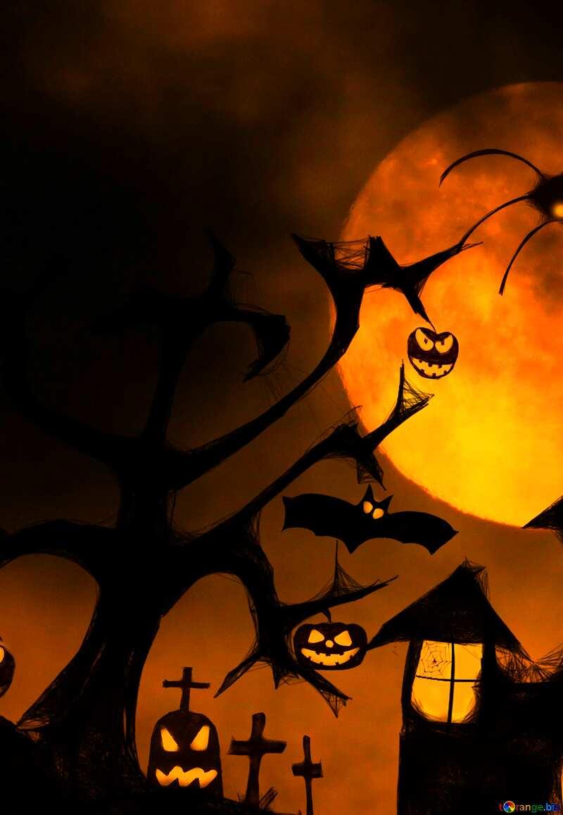Halloween wallpaper for mobile  desktop №40470