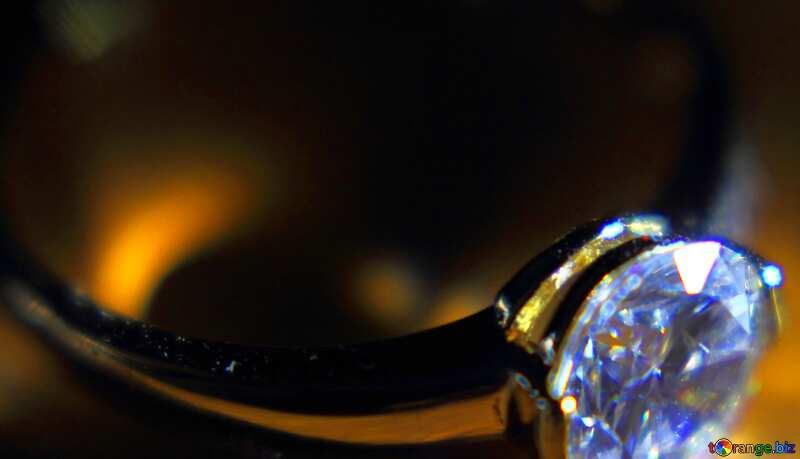 Abdeckung. Gold-Diamant-ring. №18587