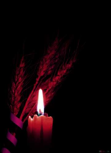 L'effetto del molto buio. L'effetto di macchiato rosso.