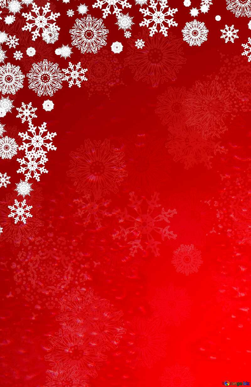 Red Christmas backdrop clipart №40659