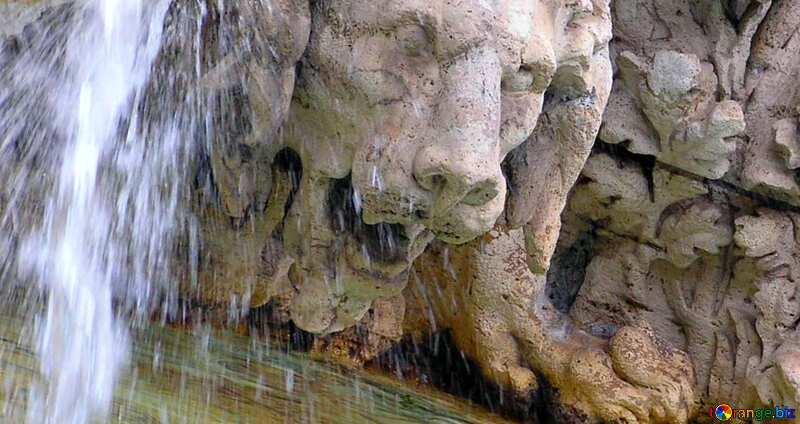 Couverture. Sculpture de lion de la fontaine. №12522