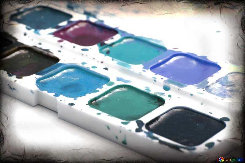 Couleur bleu clair. Peinture aquarelle. №18025