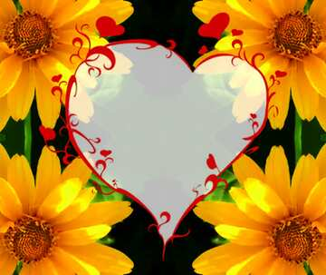 The effect of contrast. Very Vivid Colours. Fragment. Pattern Heart.
