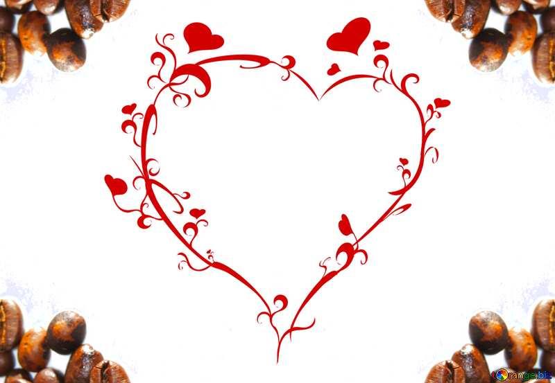 Love coffee heart frame №32293