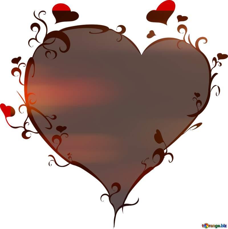 Background lights heart shape template №24607