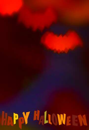 The effect of the mirror. Very Vivid Colours. Blur frame. Fragment. Happy halloween.