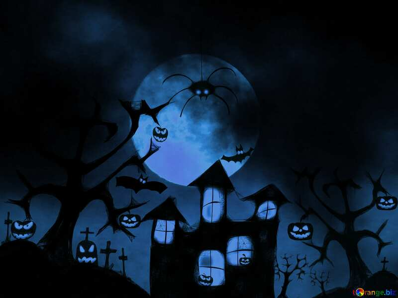 Cold Halloween card background №40470