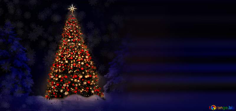 Christmas tree blur right side background №40739