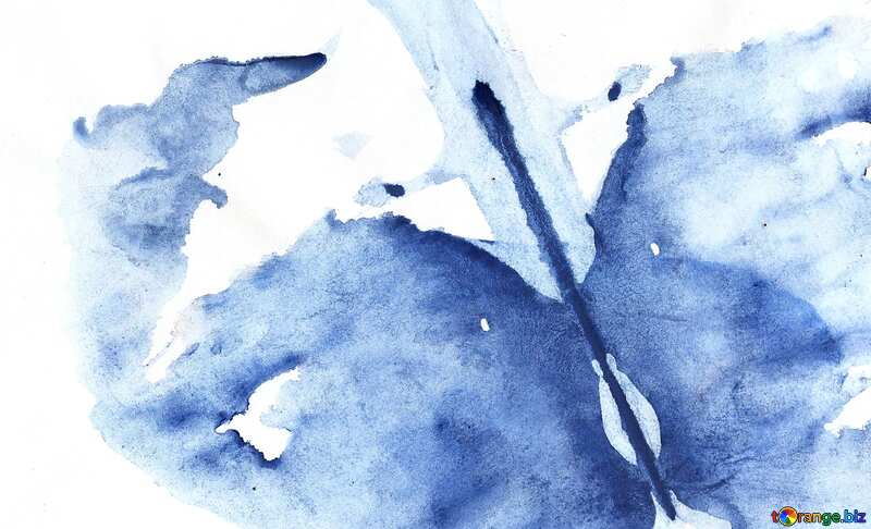 blue abstract watercolor №42839