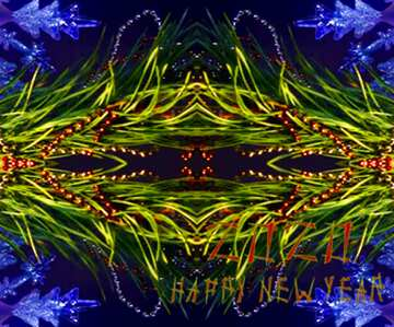 The effect of light. Very Vivid Colours. Fragment. Frame Pattern. Happy New Year 2020.