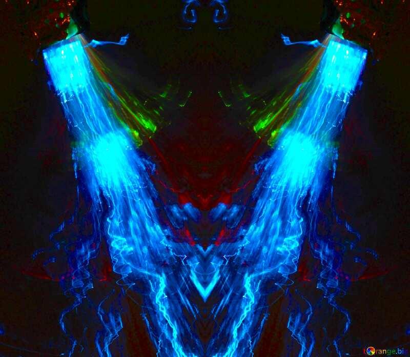 Blue lights  wave pattern №25858