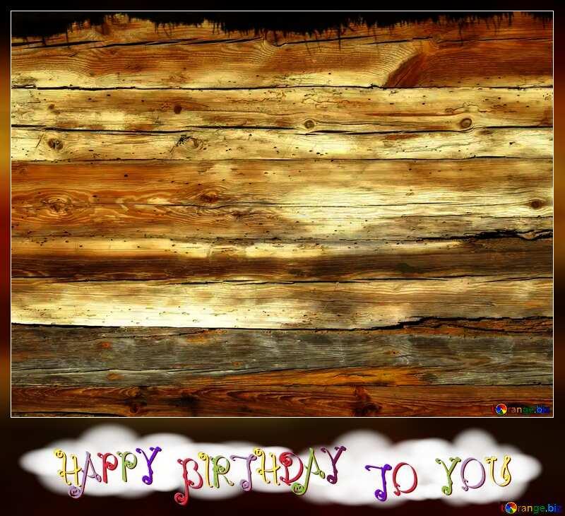Happy birthday blank card old wood. №28600