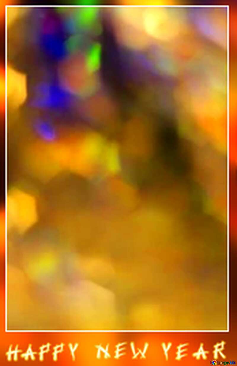 Happy new year card background.  №7343