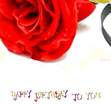 The effect of light. Vivid Colors. Fragment. Happy Birthday card.