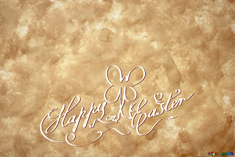 Happy Easter  writing on paper №29138