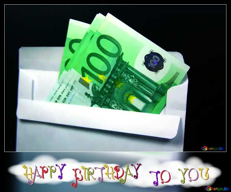 happy birthday to you euro money №4724