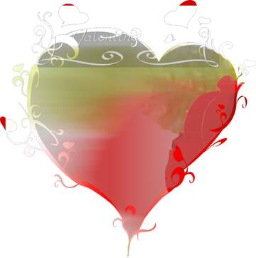 Vivid Colors. Fragment. The template image with a heart. Happy Valentine's Day.