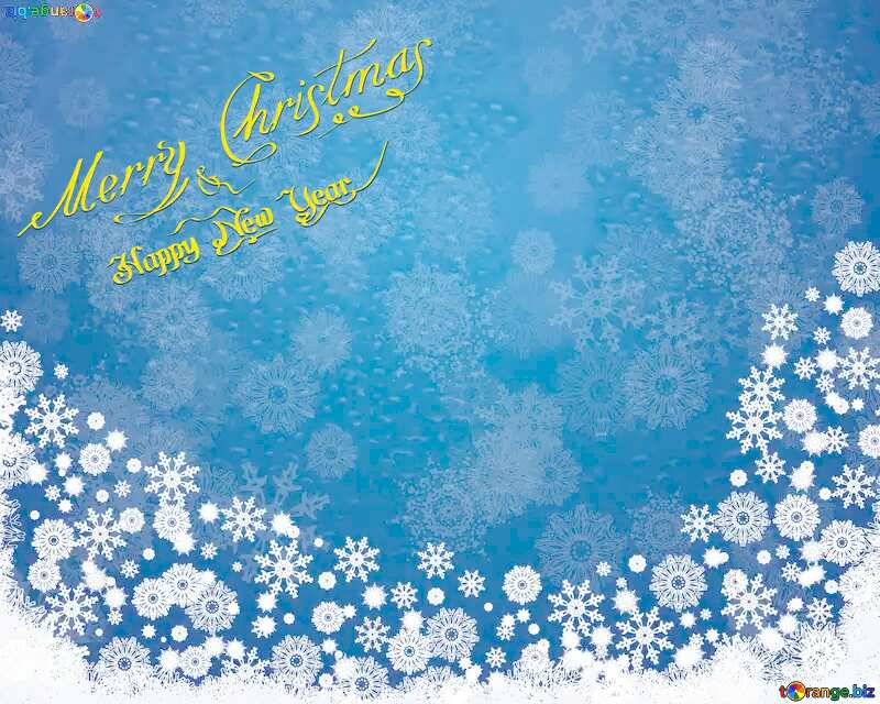 christmas Blue background №40657
